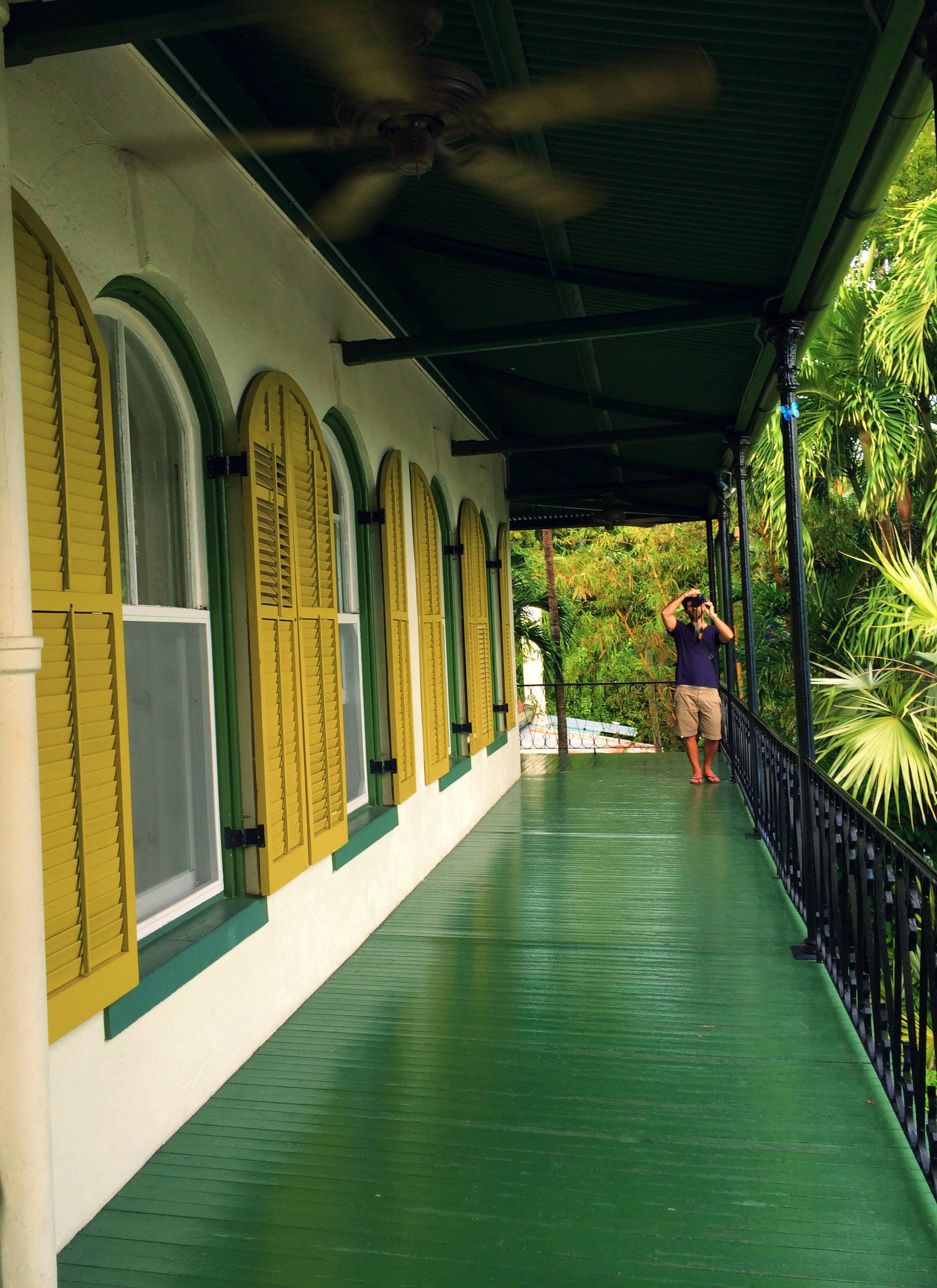Hemingway house upstairs