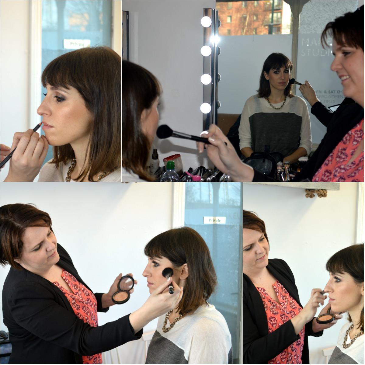 Emma Farrell doing my make up
