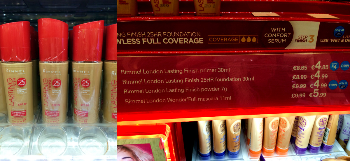 Rimmel 25 hour finish counter