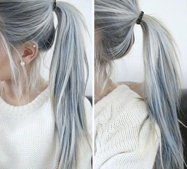 Granny chic hair