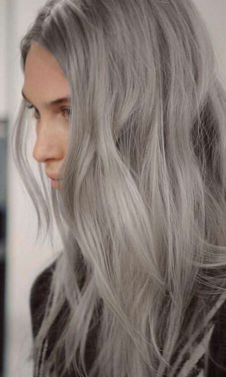 Grey long hair