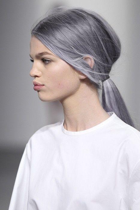 grey hair on catwalk