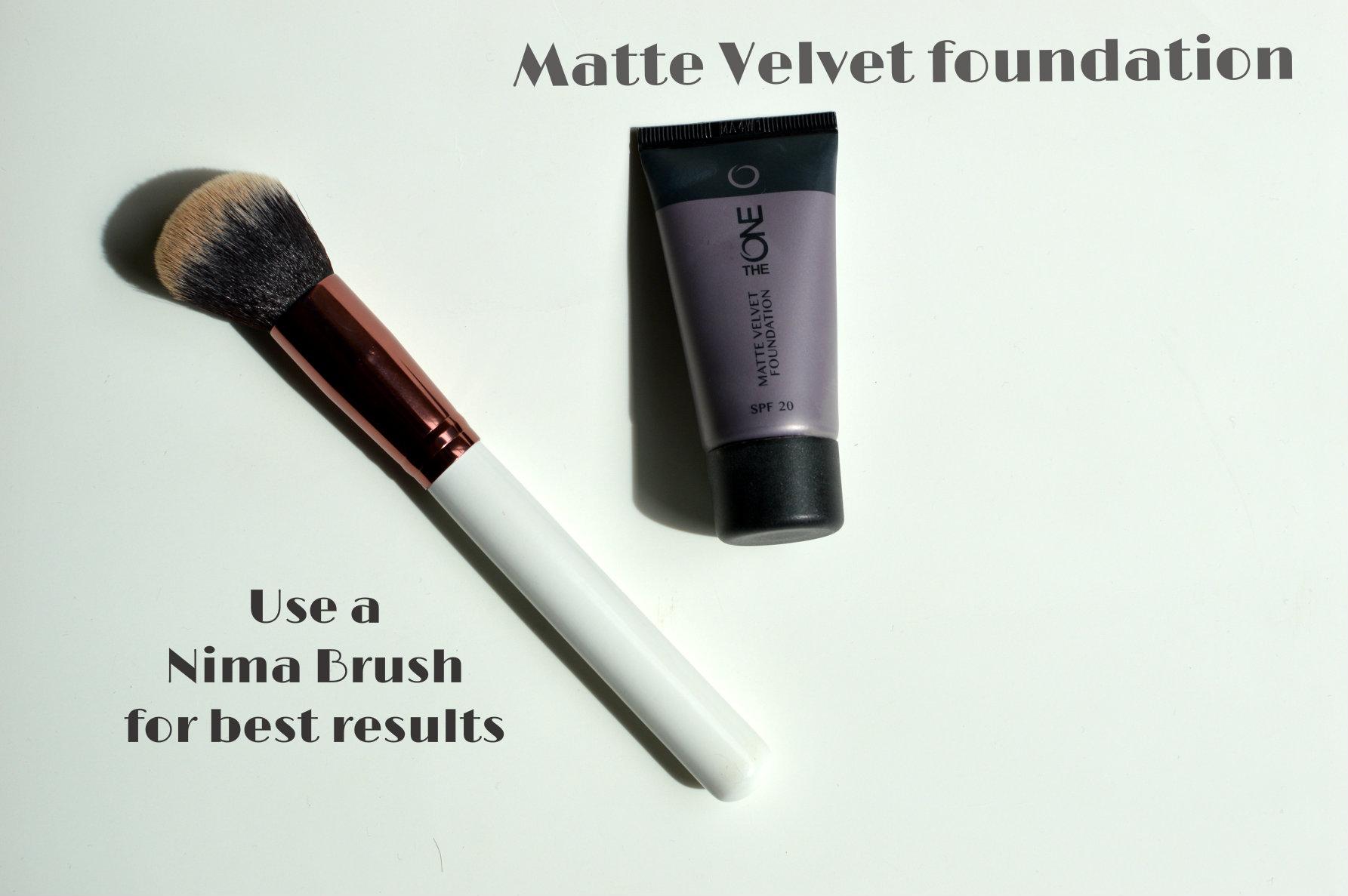 Oriflame The One matte velvet foundation & Nima brush