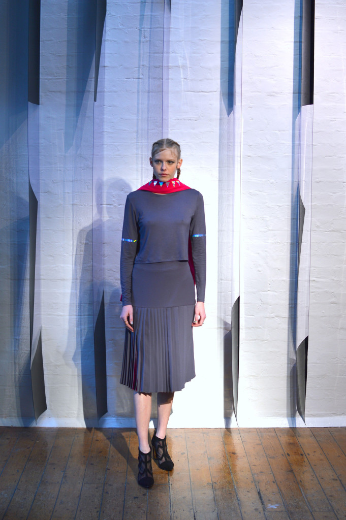 Georgia Hardinge Grey outfit
