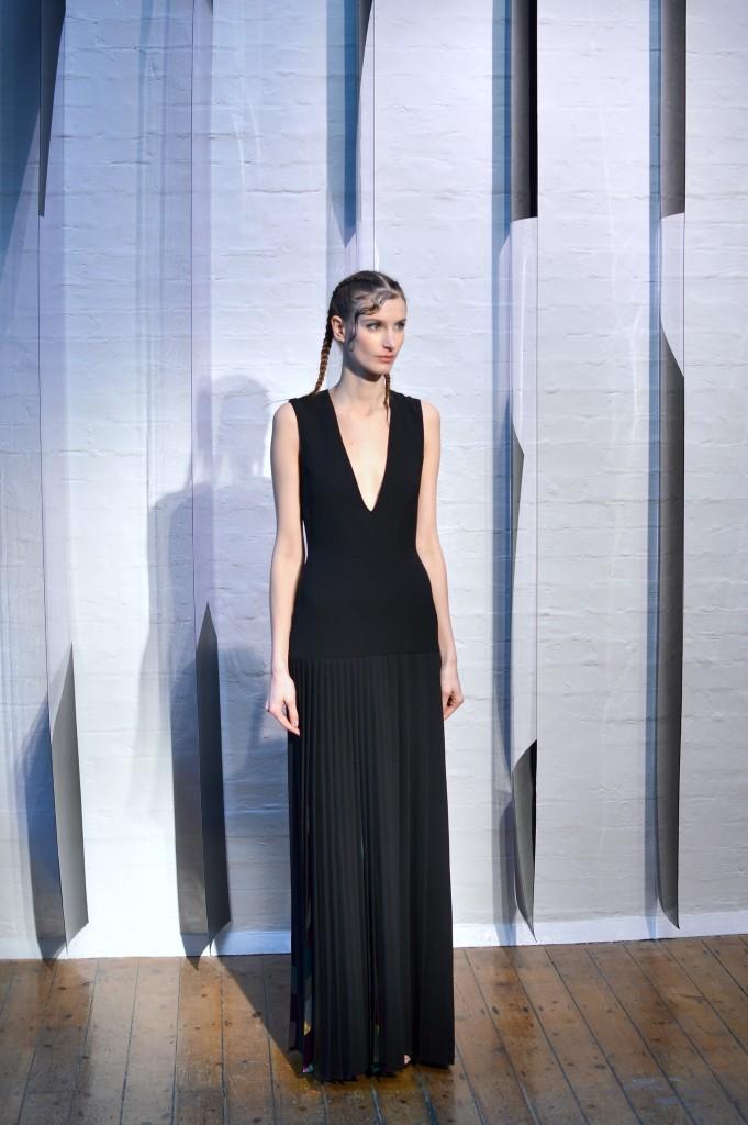 Georgia Hardinge black outfit