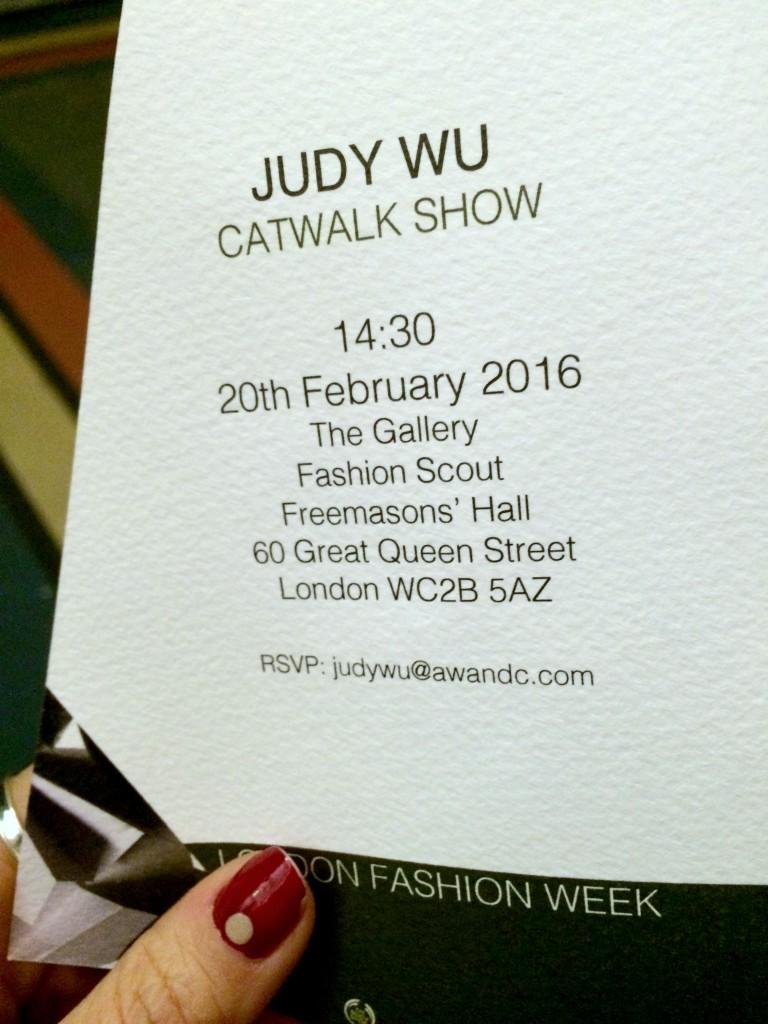Judy Wu invite