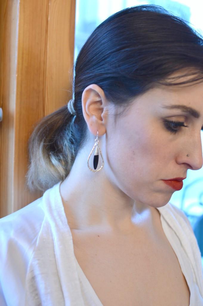 Earing details silver ILgemstones
