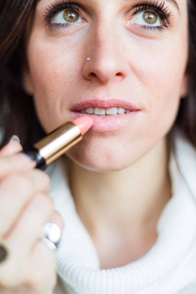 Lancome lipstic Nude close up