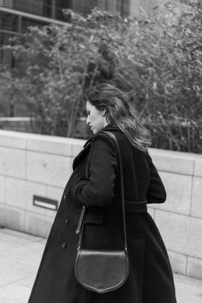 black and white velvet dress