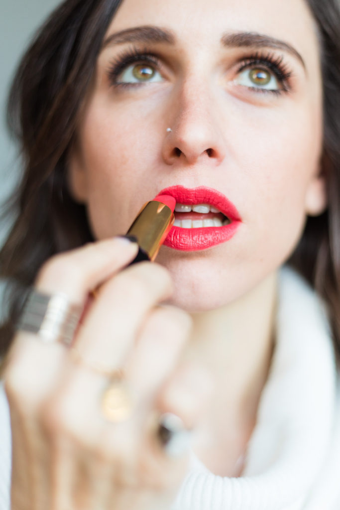 just Kassi lancome red