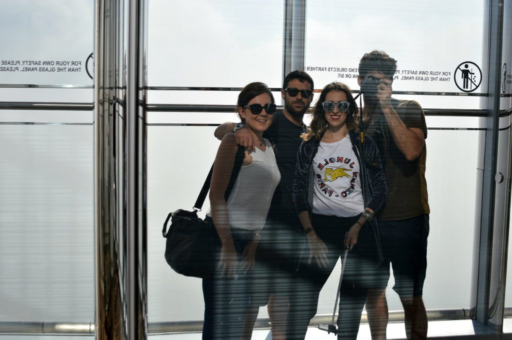 The view from the top Burj khalifa