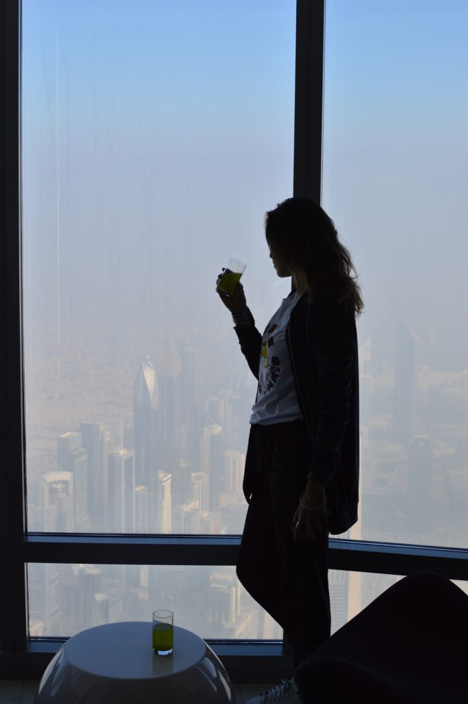 the view Burj khalifa Dubai