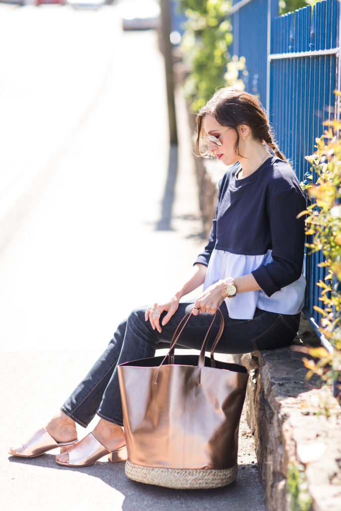 Blue top with frilles