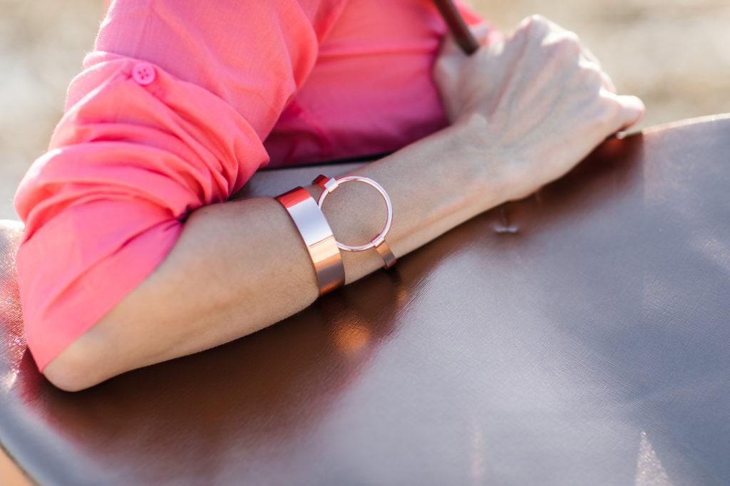 Rose gold bracelettes
