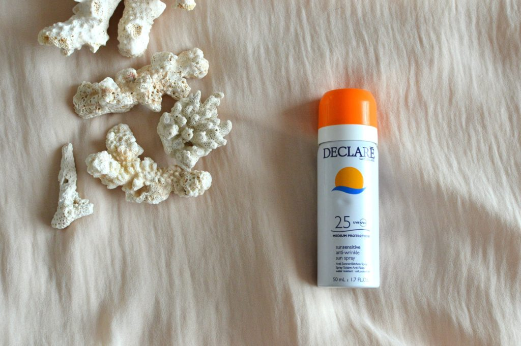Declare sun block spray