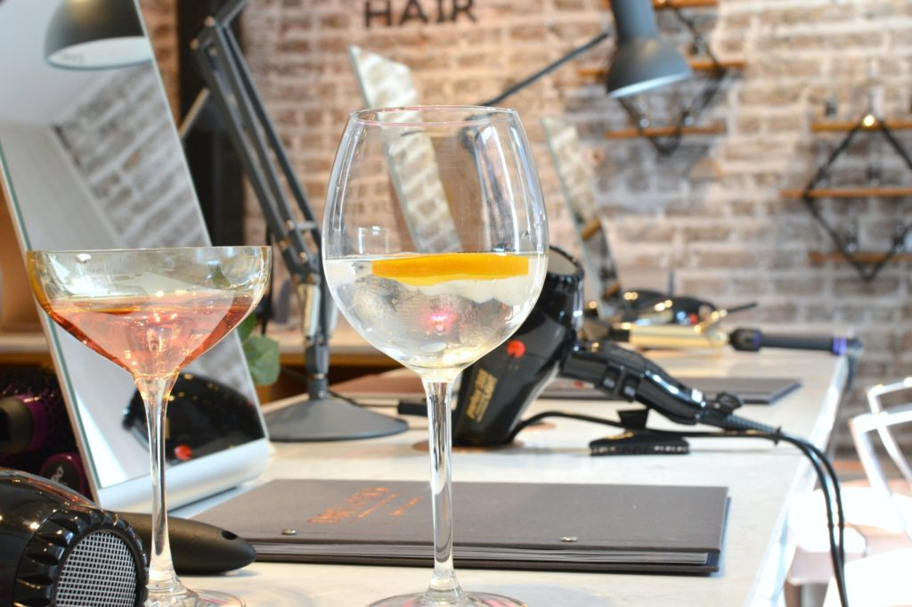 Gin and tonic with a blow dry