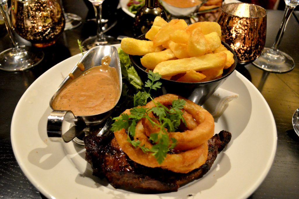 Sirloin Steak at the Clayton Hotel Limerick