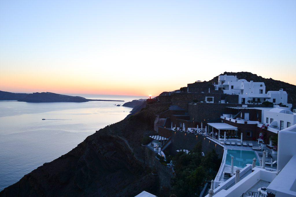 Sunset colours Santorini