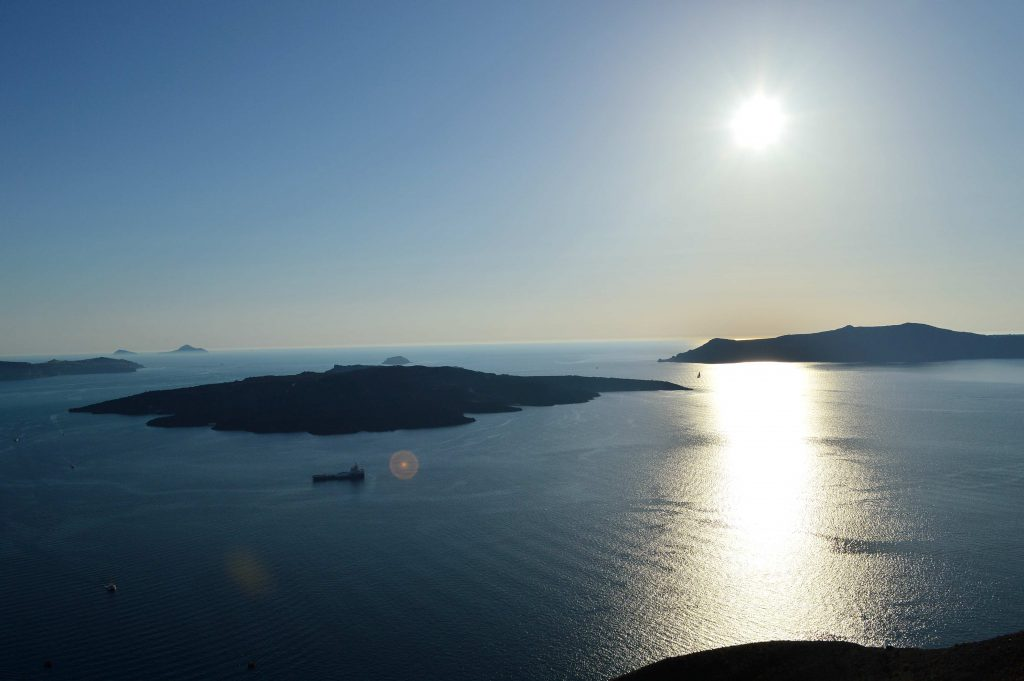 View from above Santorini