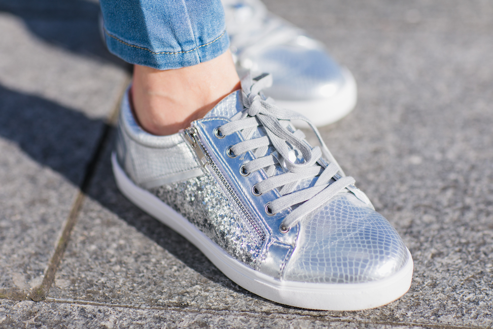 silver trainers oxendales