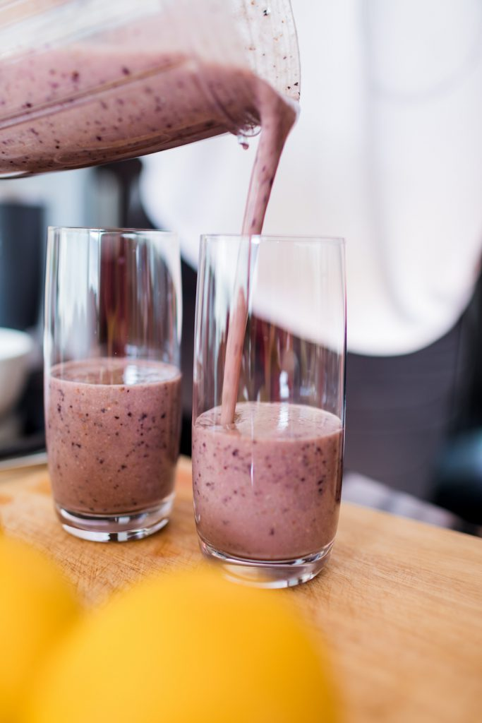 pink smoothies