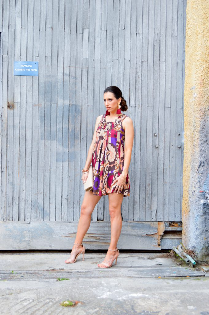 simple print dress
