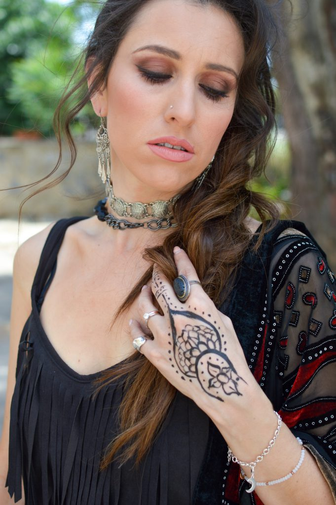 boho tatto mendhi