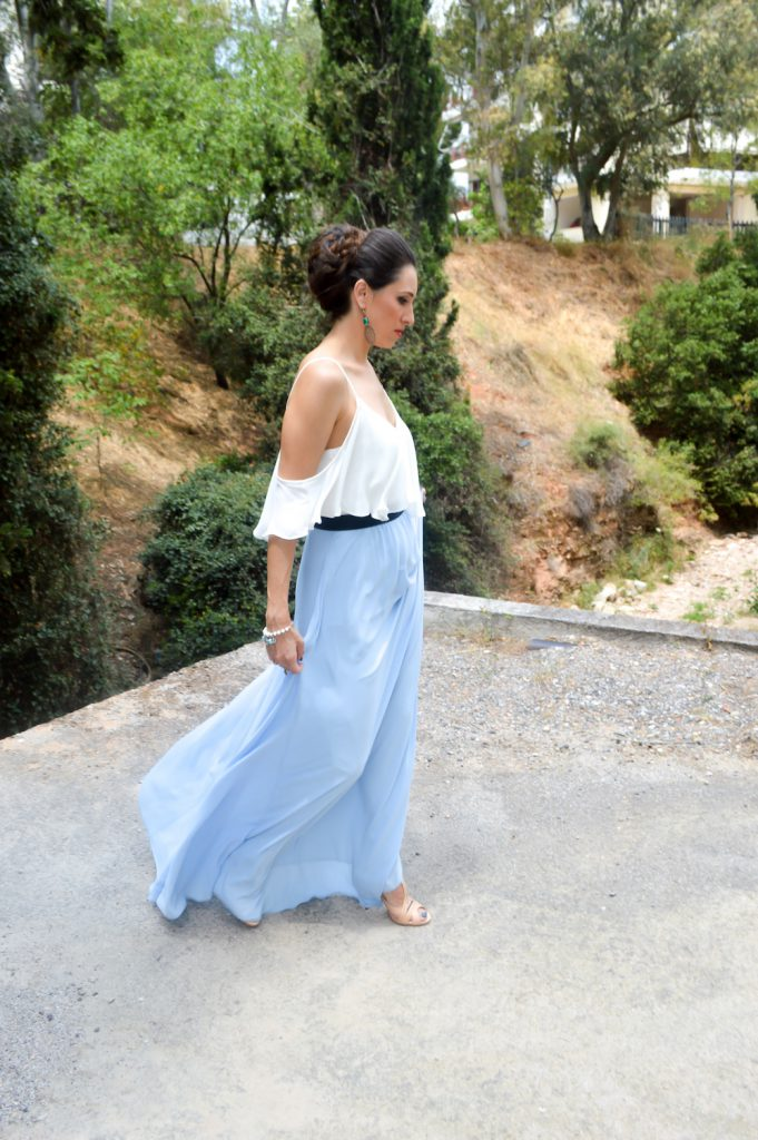 what to wear for a wedding in a Greek island