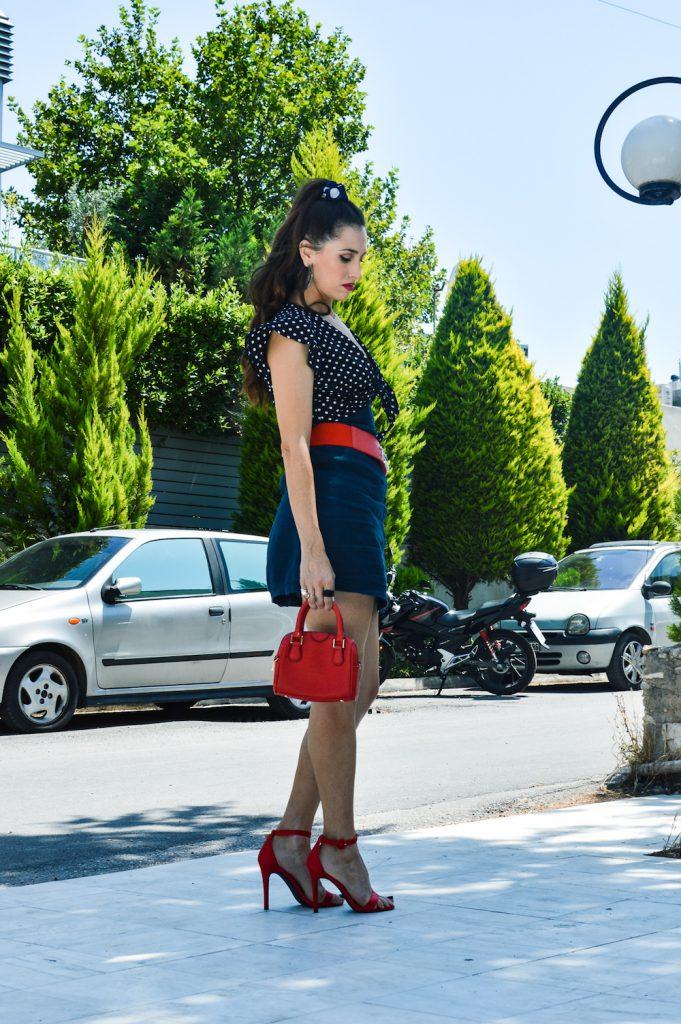 fashion blogger of the year polka dot shirt
