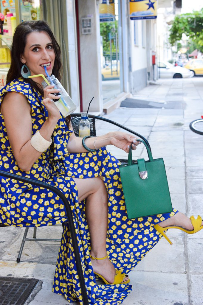 how to wear green blue yello