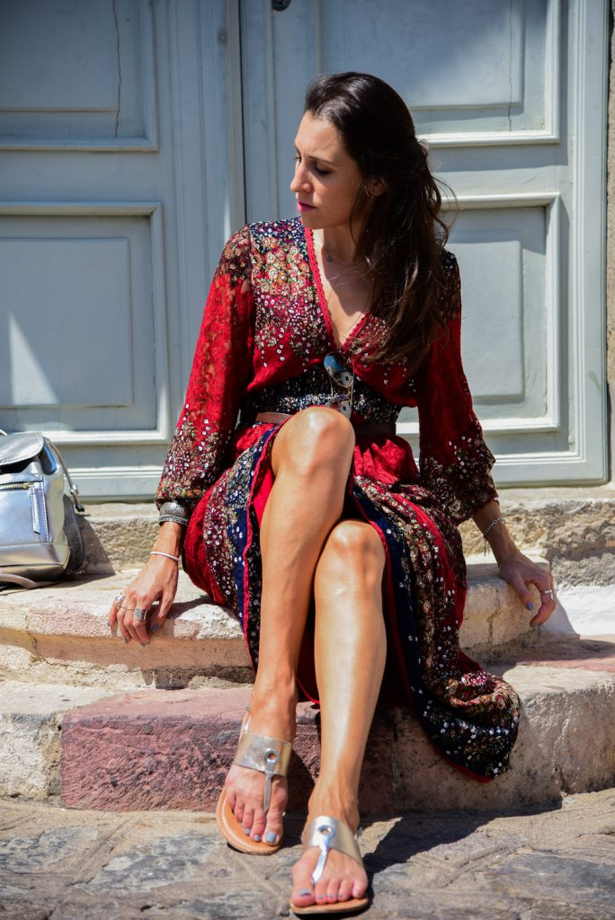 red dress in Patmos