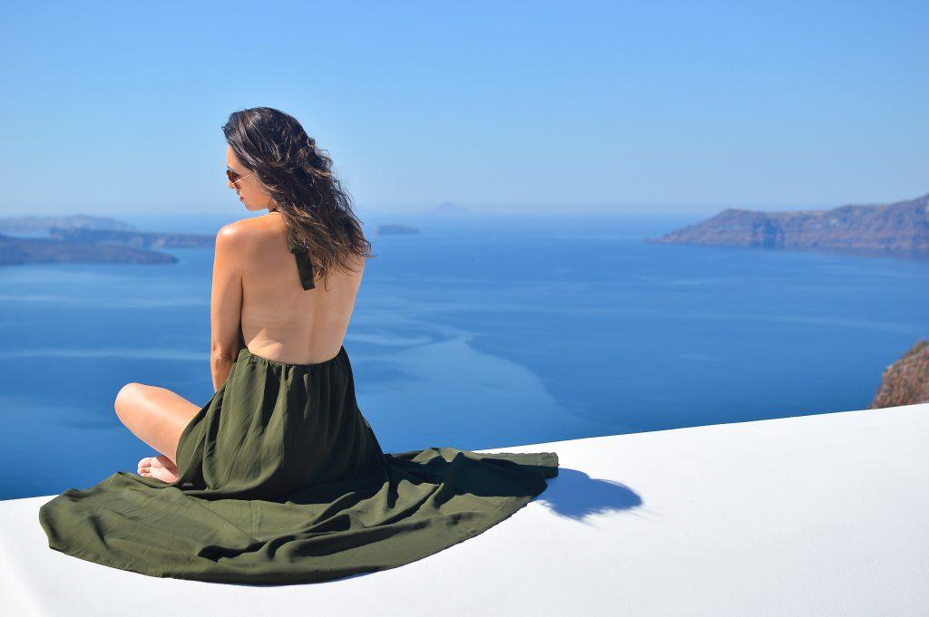 Santorini caldera views