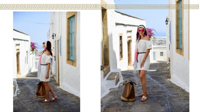 White dress patmos