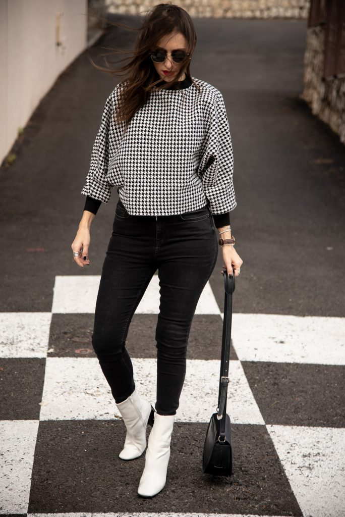 checkered top