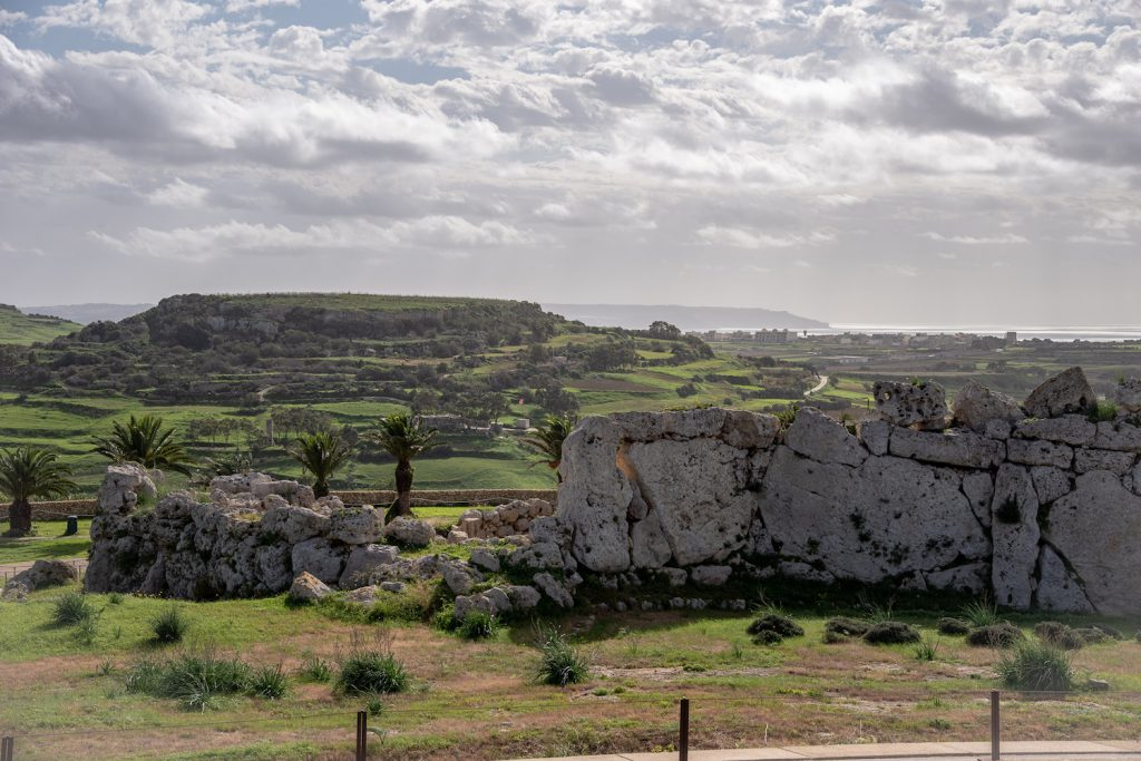 view from giant temple gozo