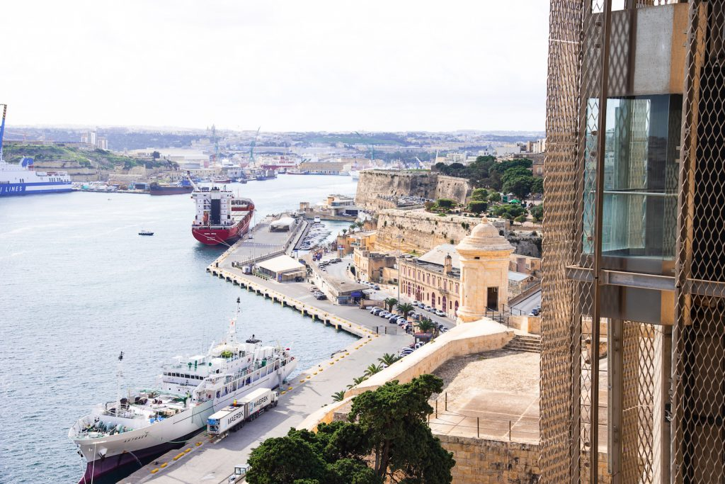 view from the gardens malta